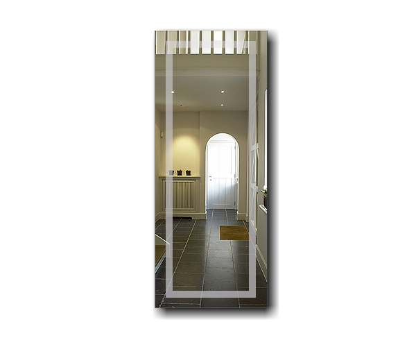 flurspiegel garderobenspiegel line et o rechteck 100 x 50cm. Black Bedroom Furniture Sets. Home Design Ideas