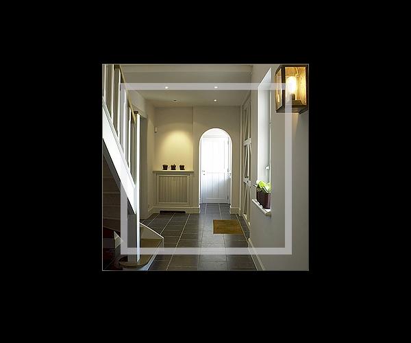 flurspiegel garderobenspiegel line et o viereck 50 x 50cm. Black Bedroom Furniture Sets. Home Design Ideas