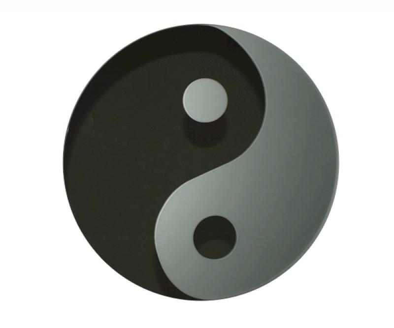 yin yang auf spiegel mattierte spiegel sandgestrahlte spiegel. Black Bedroom Furniture Sets. Home Design Ideas